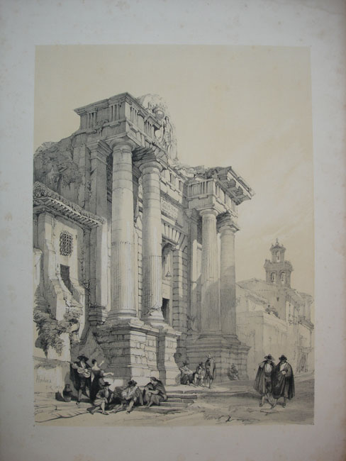 Baños Arabes Londres: la obra, Picturesque Sketches in Spain , David Roberts, Londres 1837