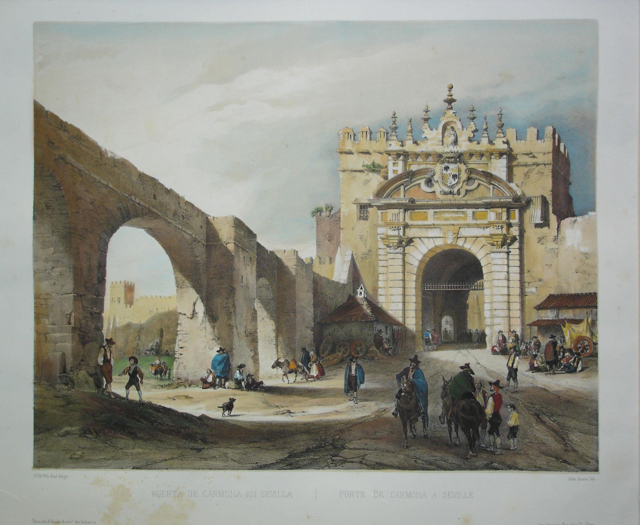 Vista de la puerta de carmona del siglo xix sevilla - Puerta de sevilla carmona ...