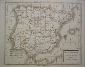 Mapas, Península Ibérica.